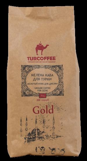 Черный кофе молотый Gold 1кг