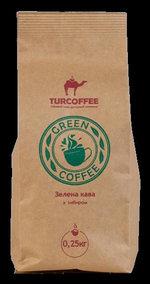 Кофе зеленый с имбирем, 0.25кг