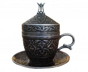 Турецкая чашка (серебро) 100 мл turcoffee