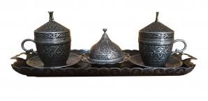 Турецкий набор (серебро) 100 мл turcoffee