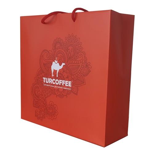 Подарочный бумажный пакет Turcoffee